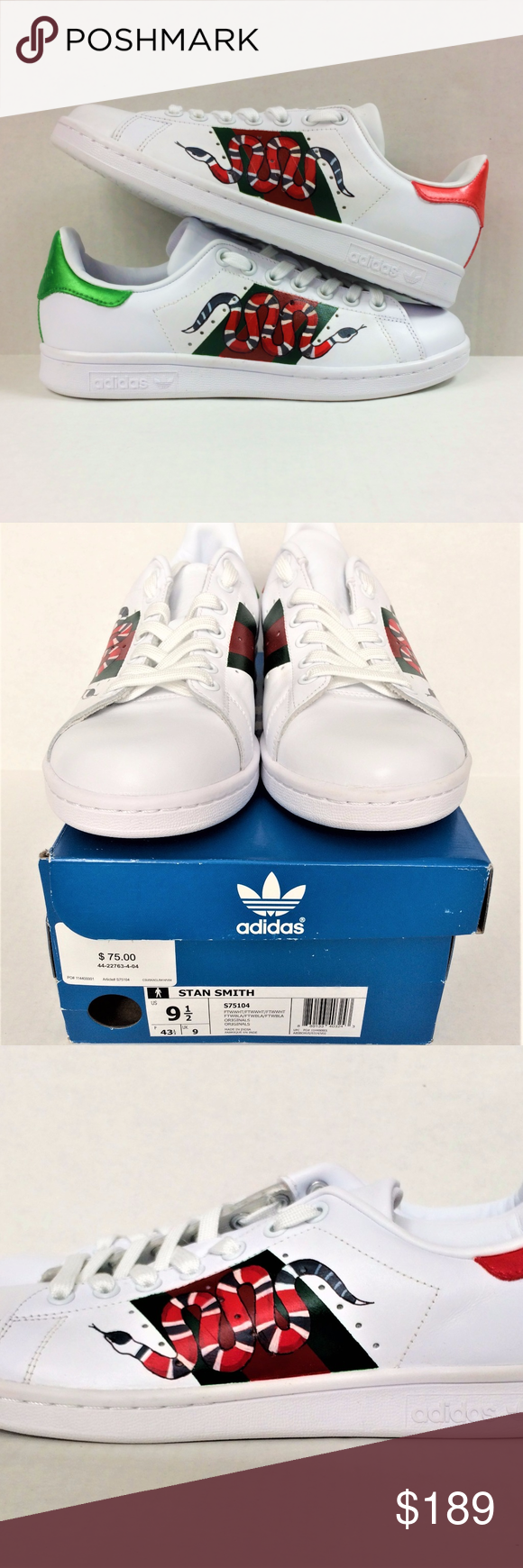online retailer bc920 54fd2 Adidas Original Stan Smith Snake Custom Sneakers These are ...
