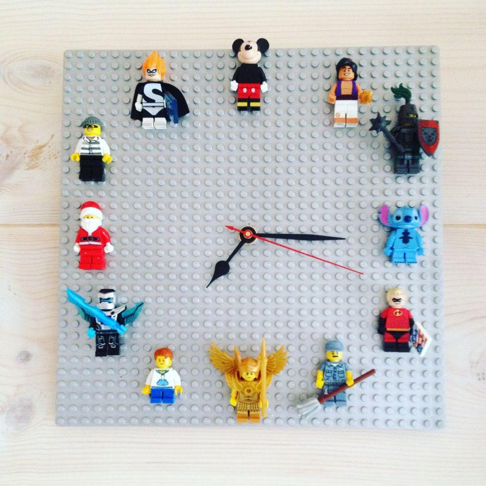 Lego Kello Lego Clock Manualidades De Decoraci 243 N Muebles De Lego Decoraci 243 N De Pared De Flores