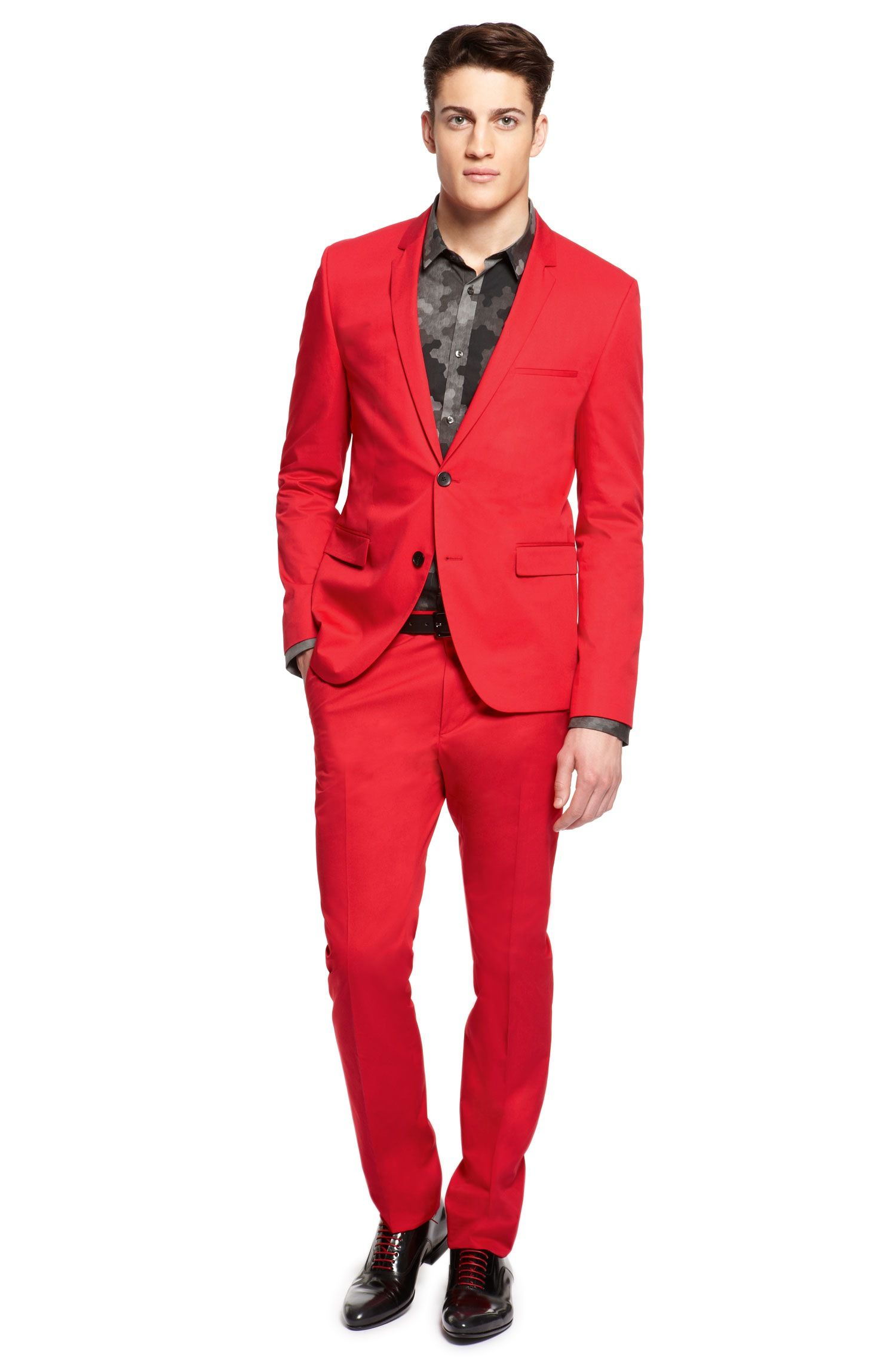 5def1ef2 Adris/Heibo' | Extra Slim Fit, Pima Cotton Suit by HUGO | Mens ...