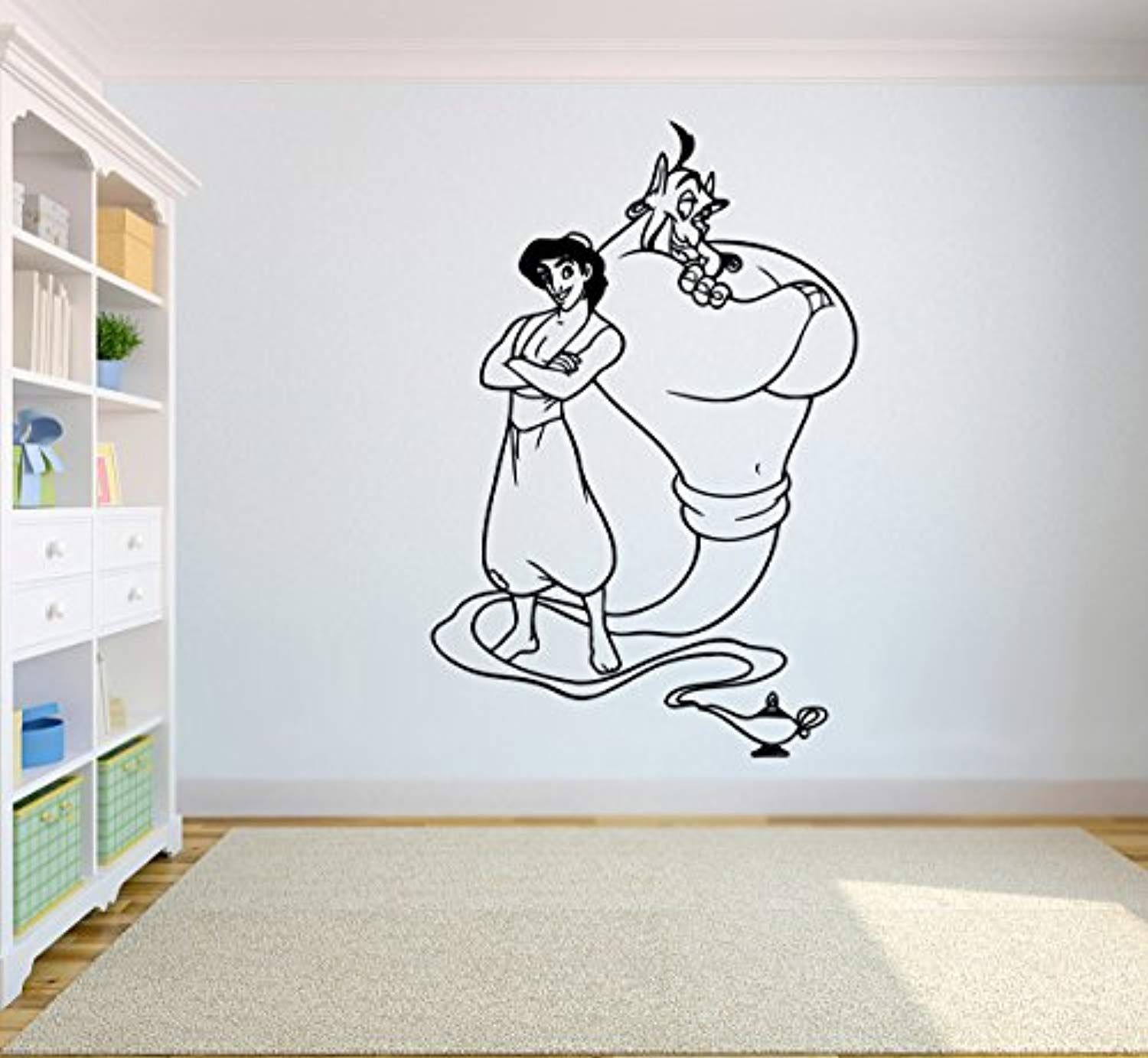 Aladdin Genie Wall Sticker Walt Disney Cartoon Vinyl Poster