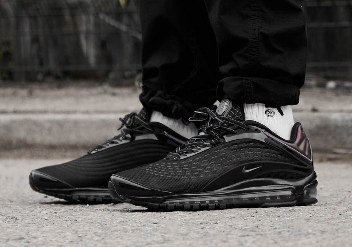 Where To Buy Nike Air Max Deluxe Black White Sneakernews Com Nike Air Max Black Mens Trainers