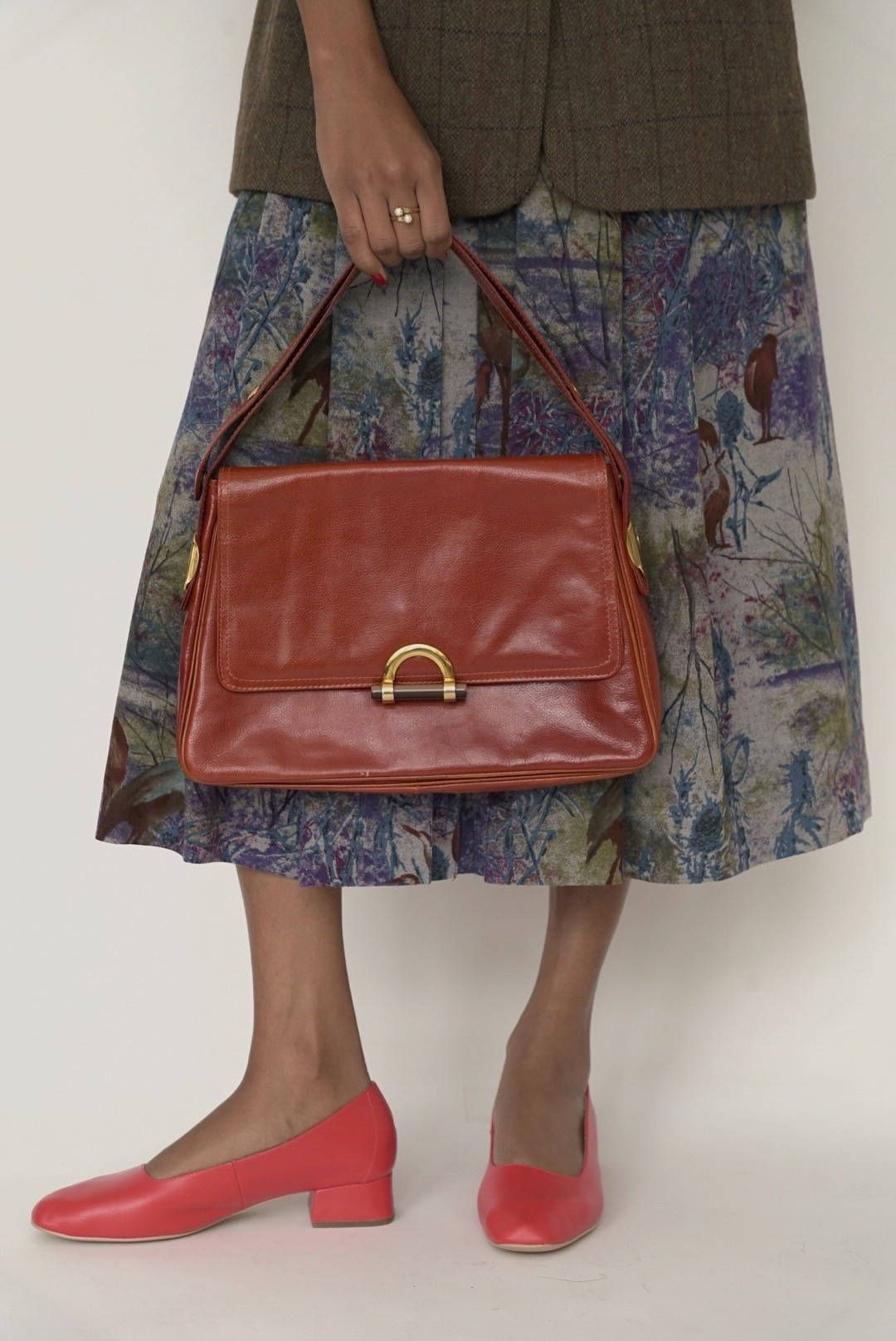 70 S Mantessa Bag Italian Leather Bags Everyday Handbag Brown Made In Italy Vintage Purse By Mnimalmood On