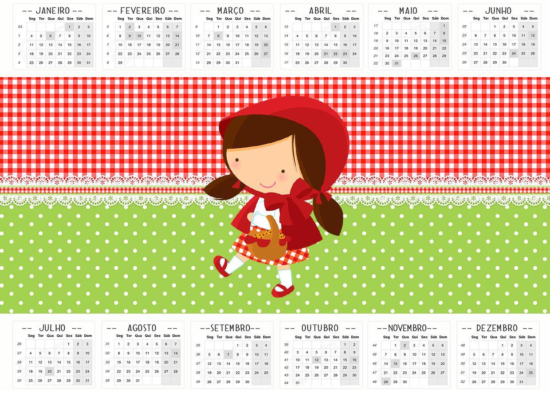 Convite Calendario 2016 Chapeuzinho Vermelho