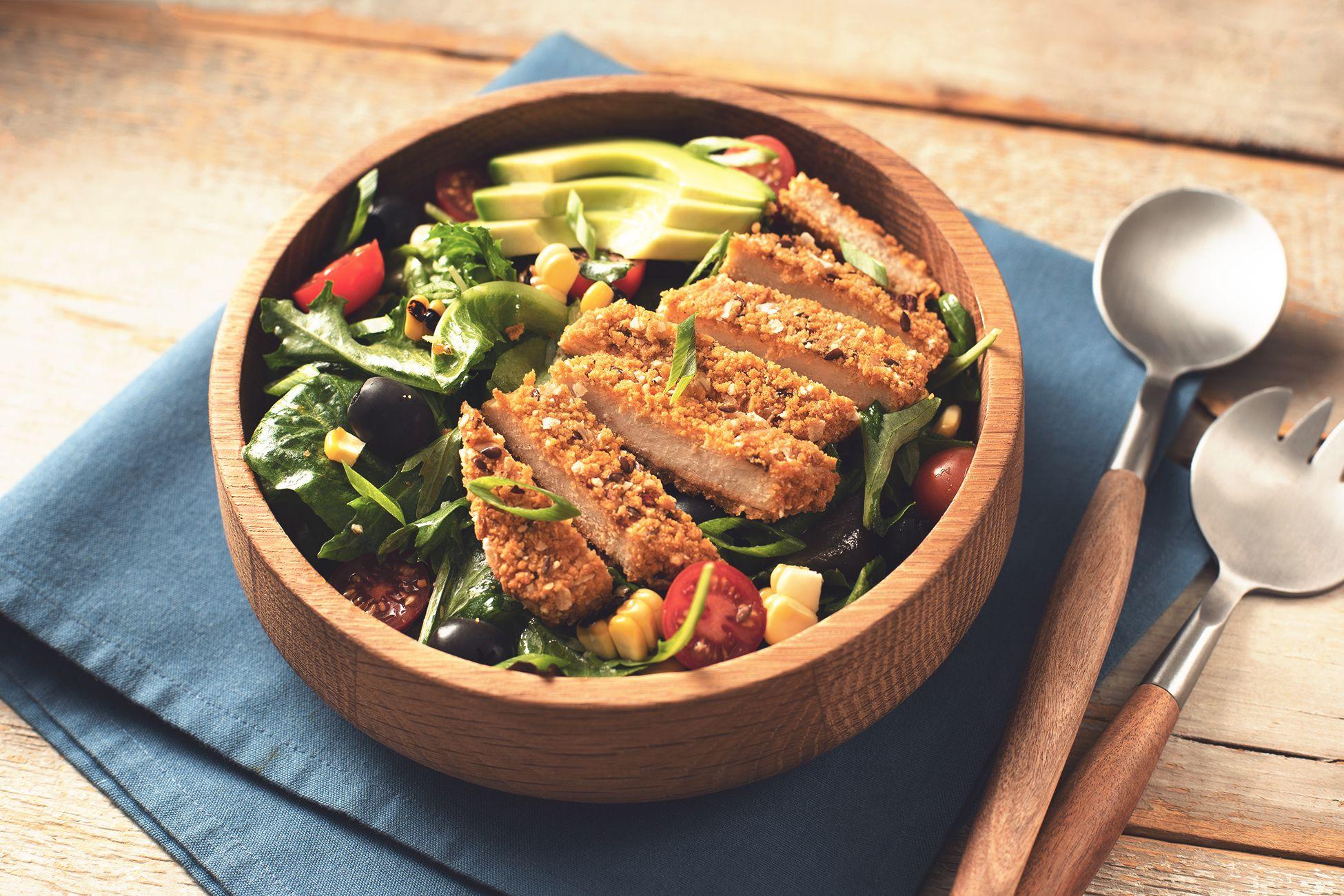 Quorn Southwest Chickenless Salad Recipe Quorn Delicious Veggies Quorn Recipes