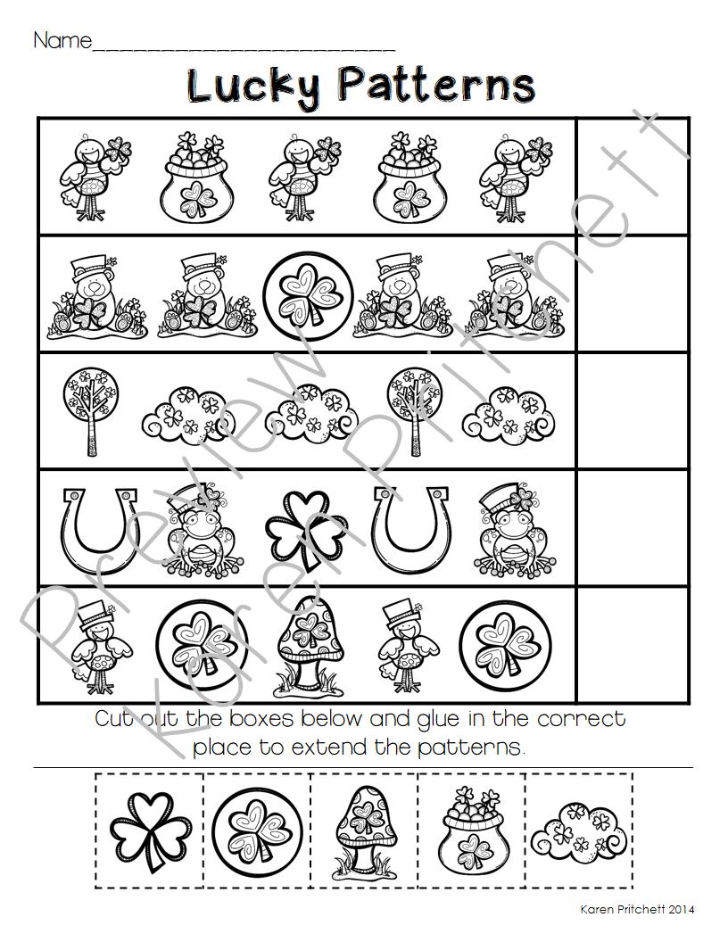 worksheet Ten Frame Worksheets st patricks day march math sequencing missing number tens frames