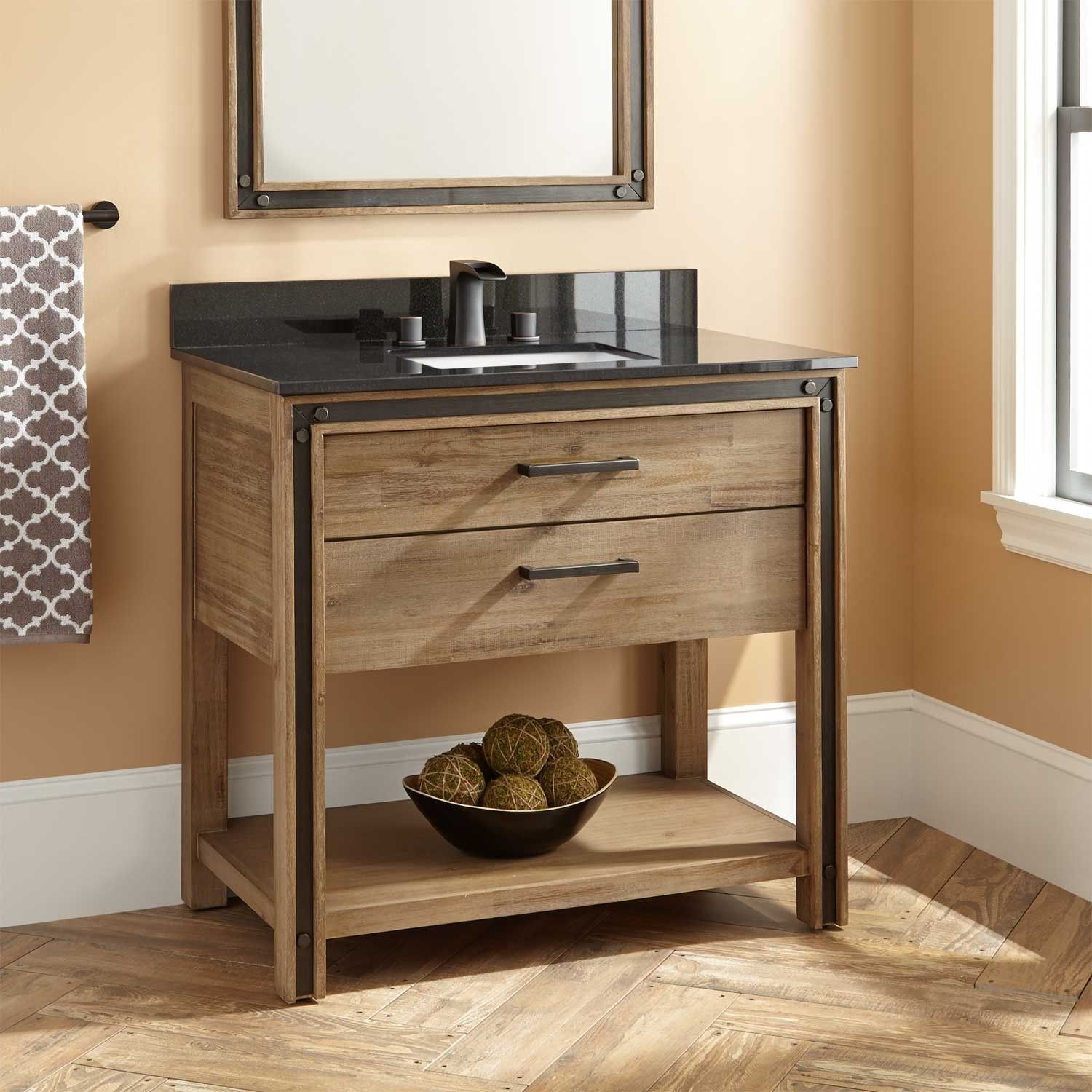 36 Celebration Vanity For Rectangular Undermount Sink Rustic
