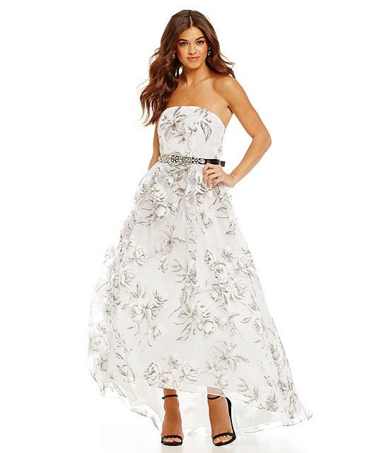 B. Darlin Strapless Floral Organza Ball Gown | Group Poses / Friend ...