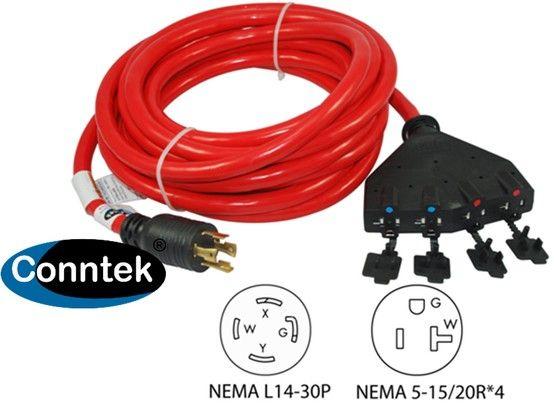 25 ft 30amp to 15amp generator locking distribution cord plug 25 ft 30amp to 15amp generator locking distribution cord plug into your generator