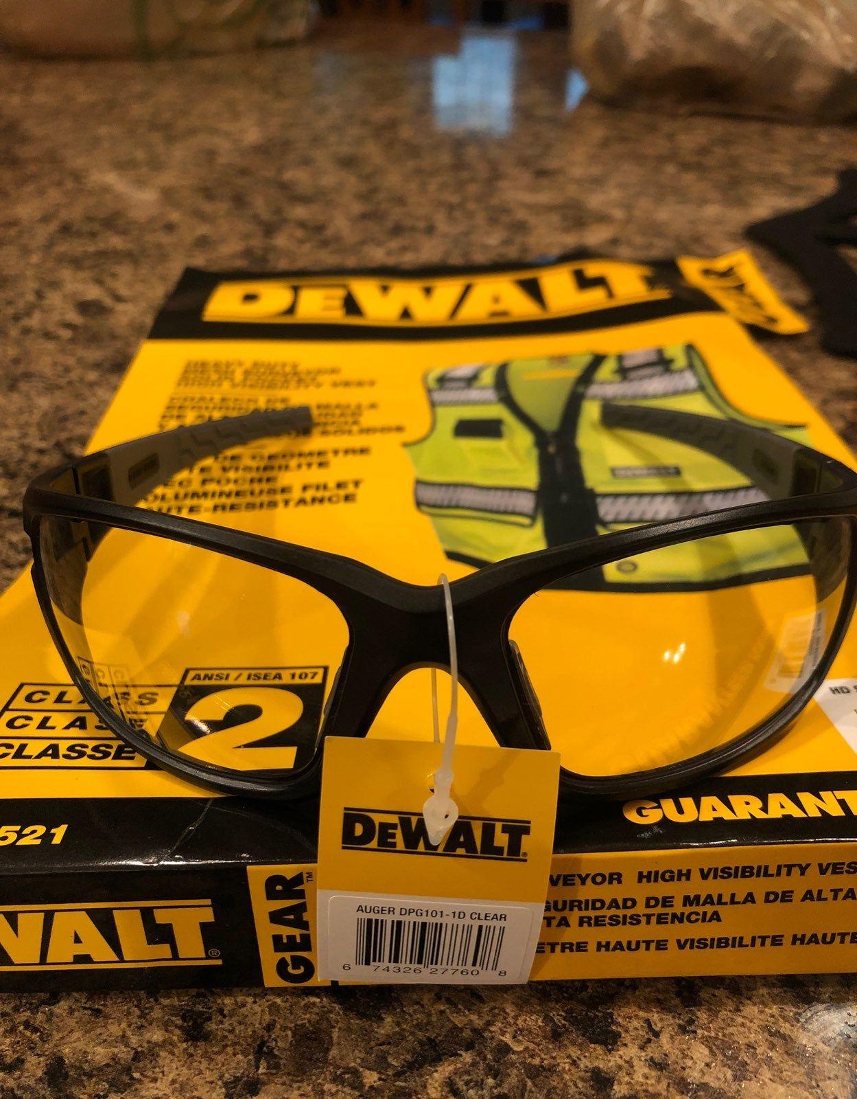 Dewalt clear lens safety glasses auger z87 compliant
