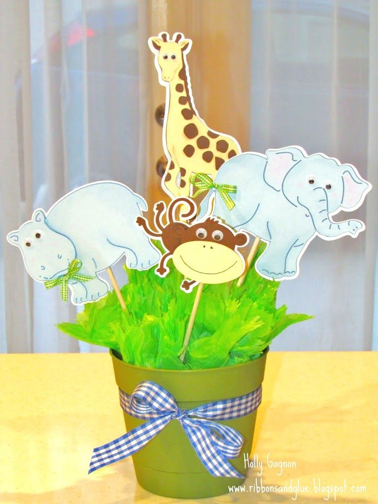 jungle animal baby shower