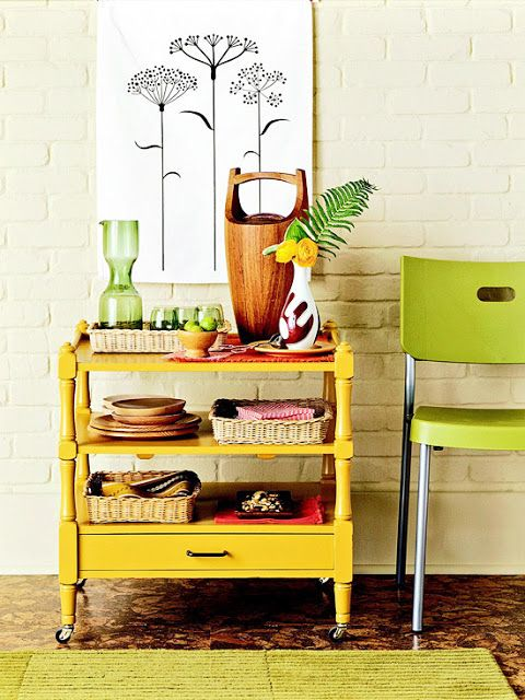 An Old Bedroom Shelving Unit Becomes A Rolling Kitchen Cart! More  Decorating Projects: Home Design Design Ideas Decorating Before And After