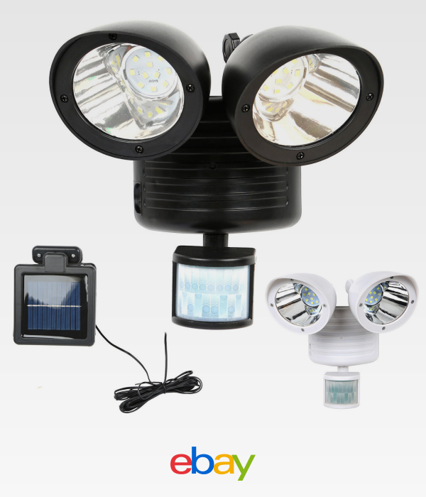 22 Led Dual Security Detector Solar Spot Light Motion Sensor Outdoor Floodlight Ebay Solar Spot Lights Outdoor Solar Lights Solar Powered Security Light