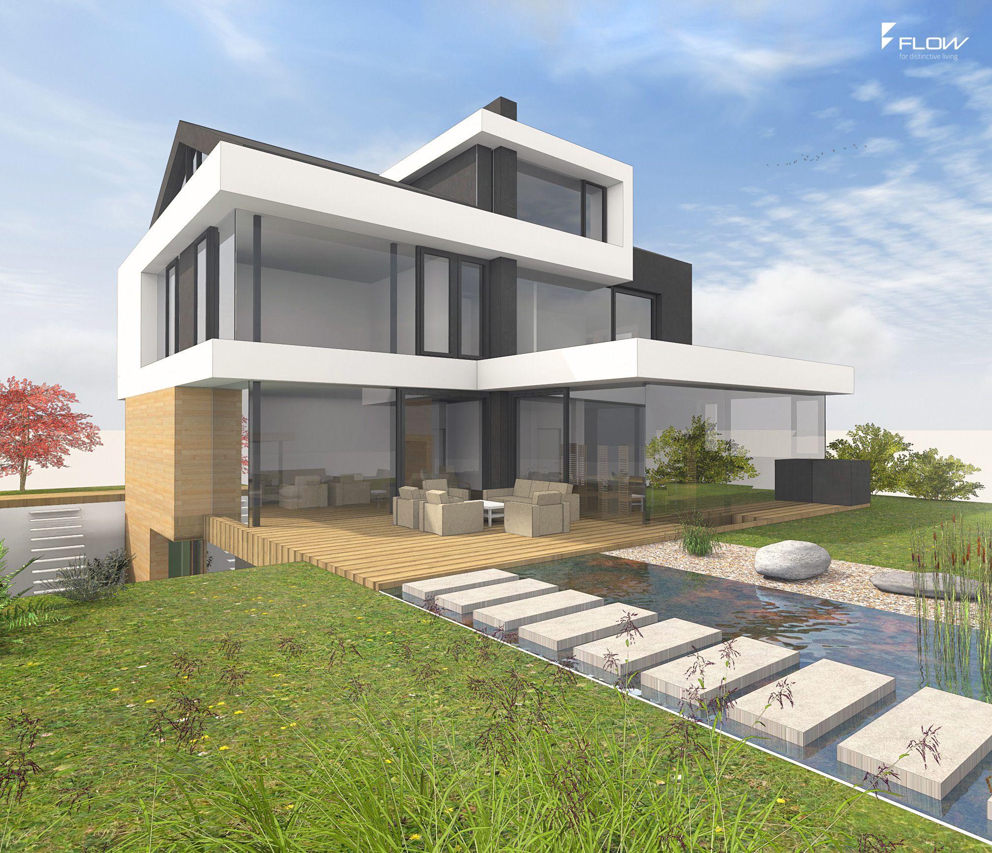 Modernes Satteldachhaus mit Gauben by www.flow-architektur.de ...