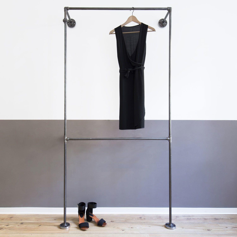 Offenes Industrial Design Ankleidesystem Offene Garderobe Doppio Light Offener Kleiderschrank Kleiderschrank Garderobe