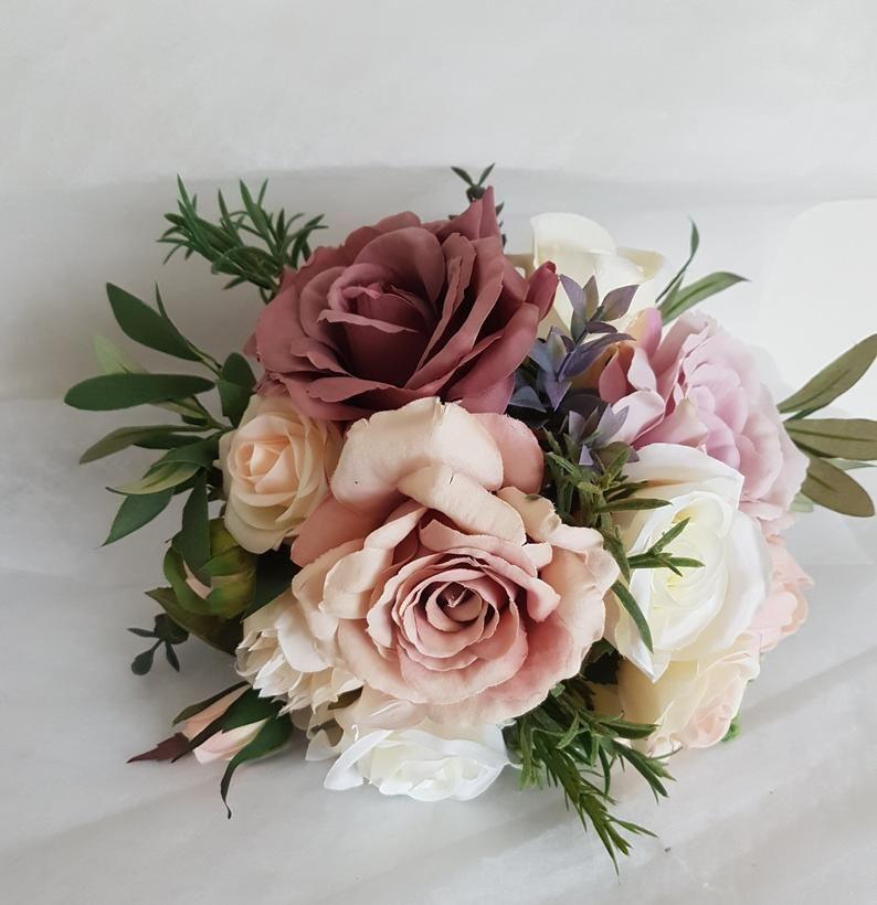 Wedding set Wedding accessories Wedding bouquets Faux bridal bouquet 11Pink flowers bridal bouquet Artificial flowers bridal bouquet