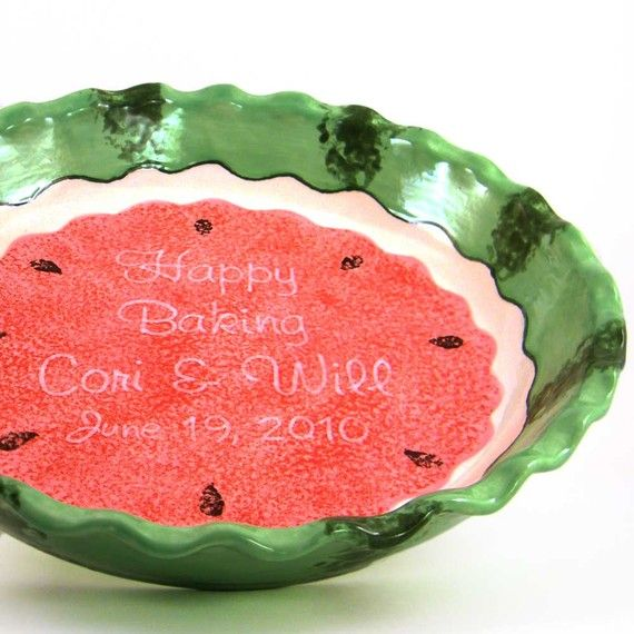Personalized Pie Plate - Watermelon - Deep Dish #Etsy  sc 1 st  Pinterest & Personalized Pie Plate - Watermelon - Deep Dish #Etsy | For the Home ...