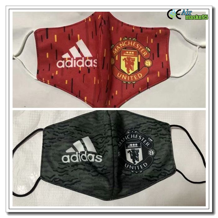 2 Pieces Manchester United 3m93 Reusable Dust Mask Kn95 Ffp2 In 2020 Manchester United Manchester Football Facemask