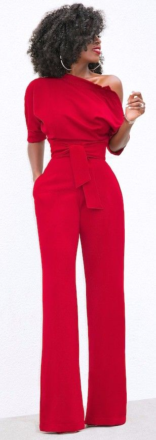 A classy office jumpsuit that, tbh, you're going to wear over and over again during normal life, too.