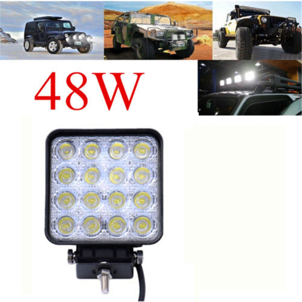 12v 24v 48w Worklight Head Lamp Truck Car Spot Motorcycle Off Road Fog Lamp Tractor Car Led Headlight Work Lights Square Car Led Led Headlights Work Lights