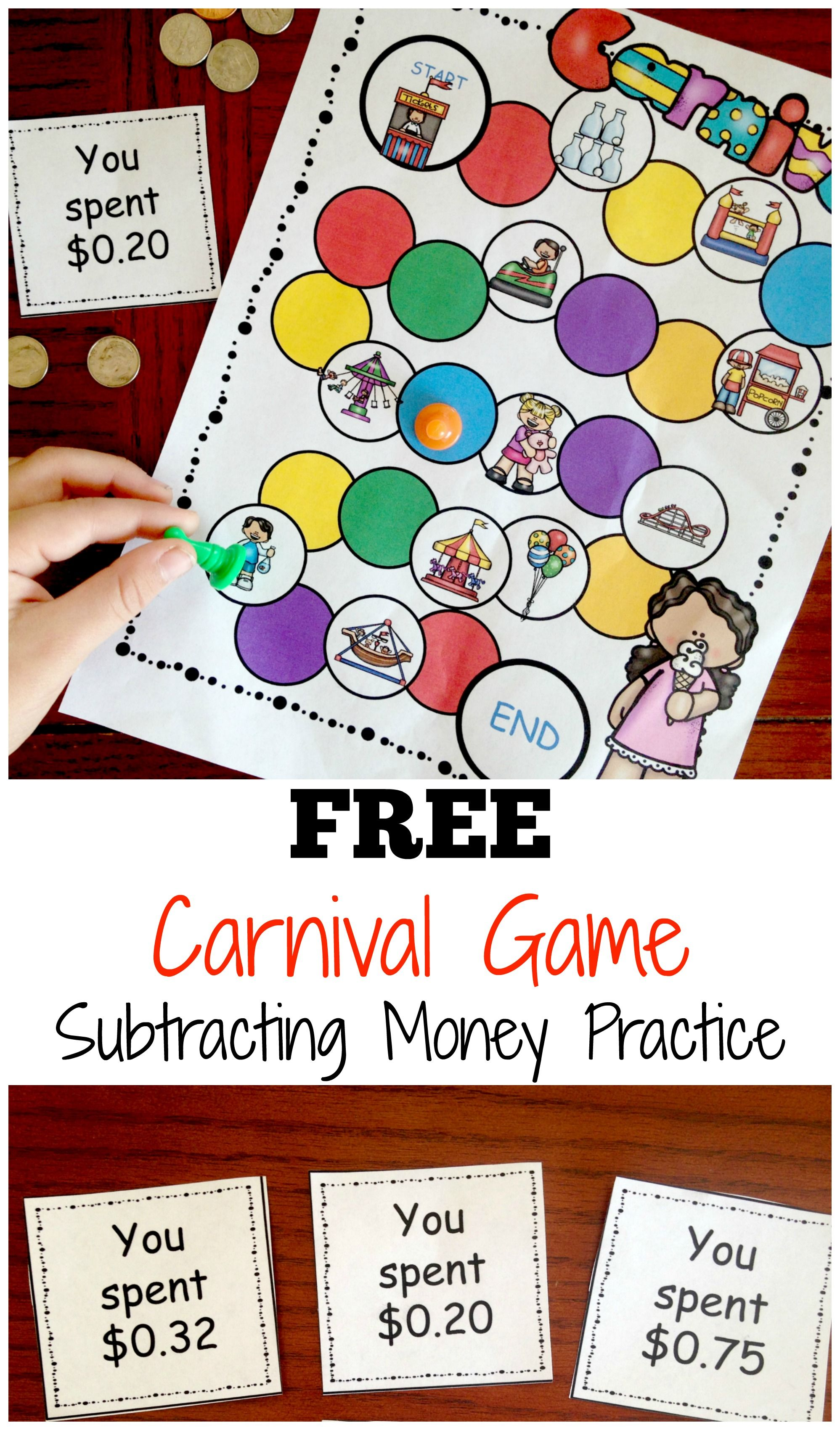 Carnival Subtracting Money Game