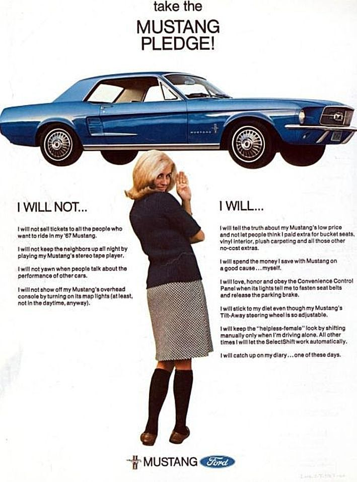 1967 Ford Mustang Ad | Classic Car Ads | Pinterest