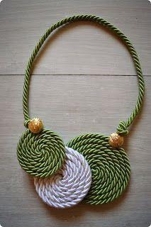 Nice cord necklace idea,  #Artisanat #cord #Idea #Necklace #Nice