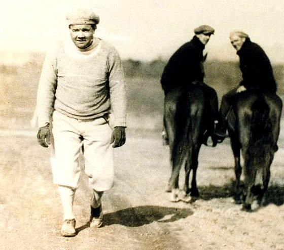 This Picture Shows Baseball Legend And Hall Of Famer Babe Ruth Walking The Track At Oaklawn Park In Hot Springs Babe Ruth Hot Springs National Park Arkansas