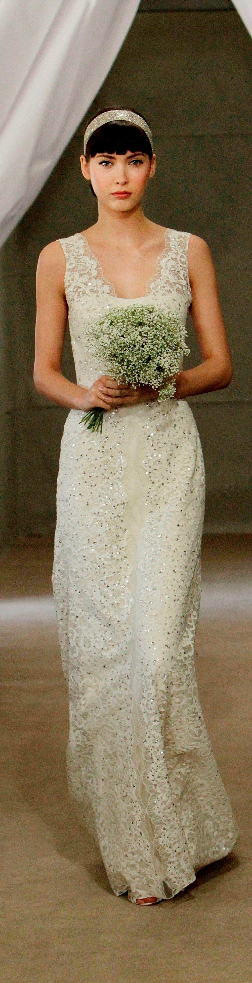 """""""Inga"""" Bridal Spring 2013 #lace #carolinaherrera #weddingdress"""