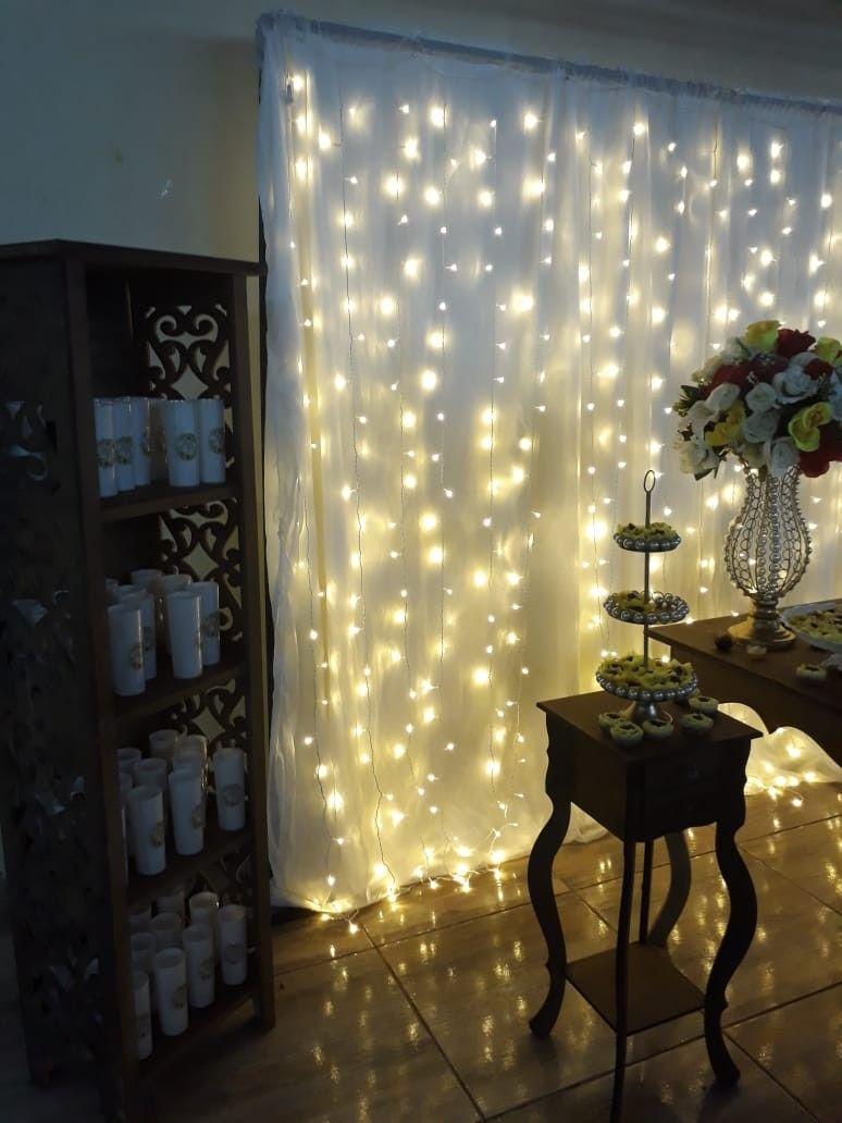 cortina de led decoração   Decoração de festa simples, Decoração ...