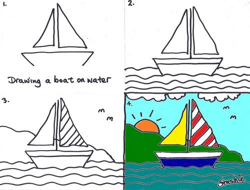 Lesson 3 Drawing A Boat Art Boats Pinterest Sailboat Art