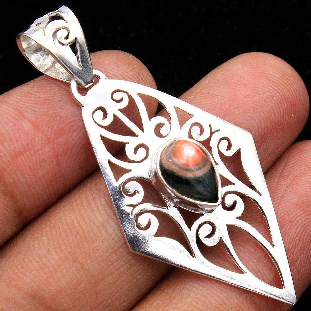 Ocean Jasper Pendant Handmade Jewelry Sterling Silver Jewelry