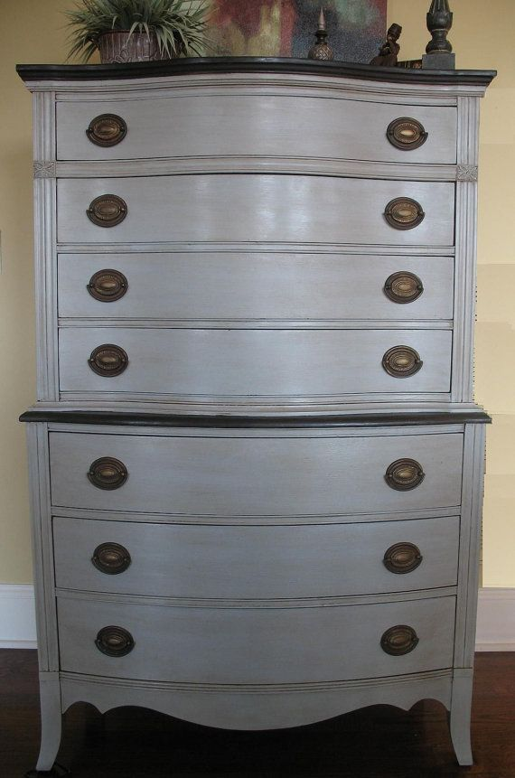 Annie Sloan Louis Blue And Paris Gray French Chest Dresser