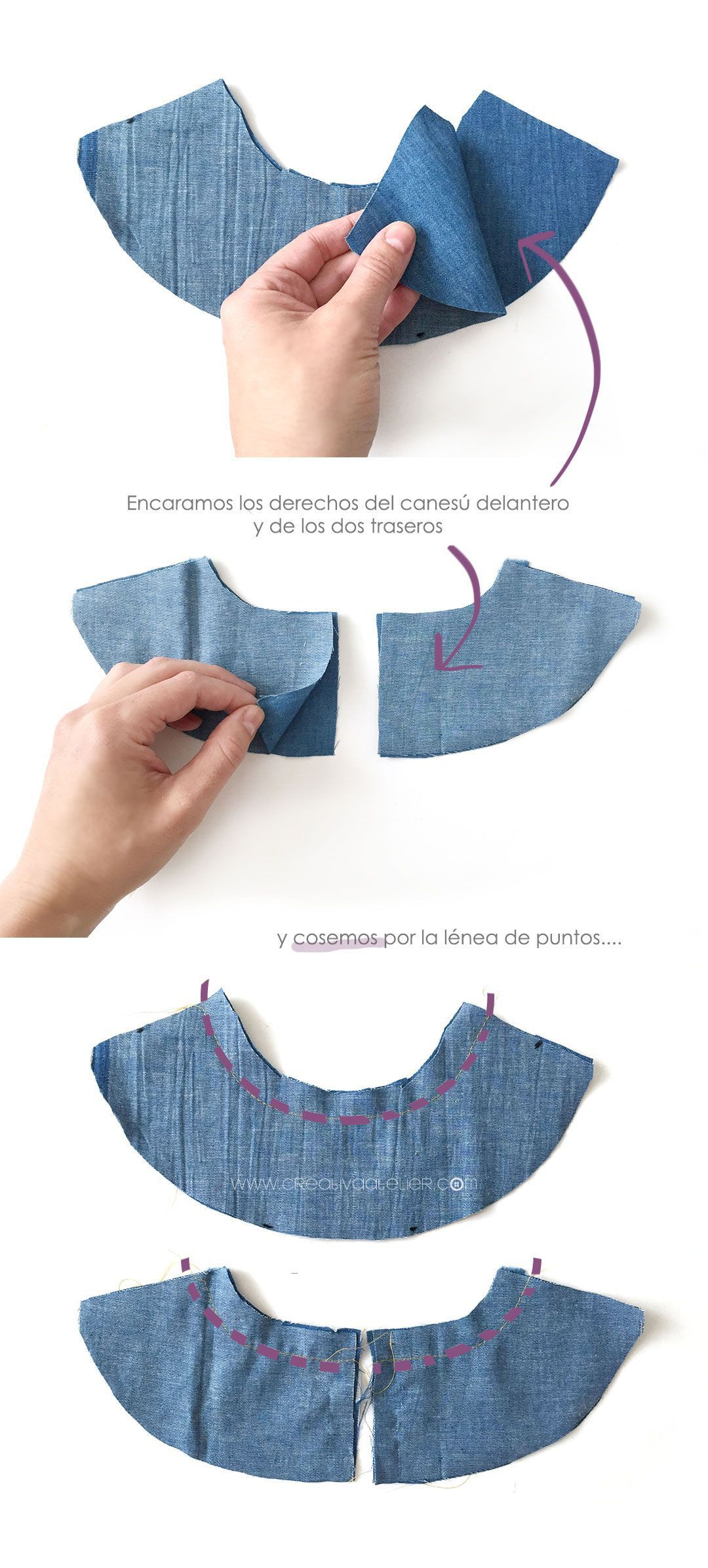 Cómo hacer un peto de bebé #DIY | Vaqueros, Bebé y Patrones