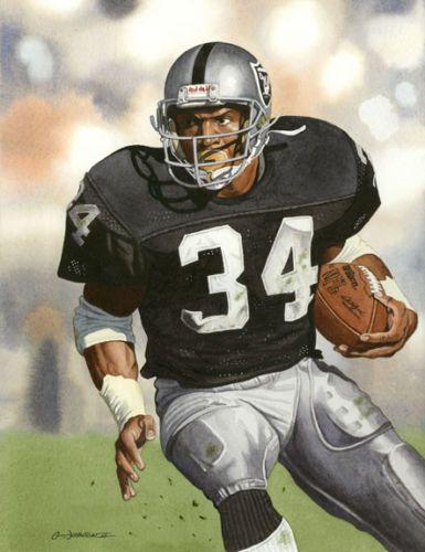 Bo Jackson Raiders Art Print Oakland Raiders Football Bo Jackson Raiders Football