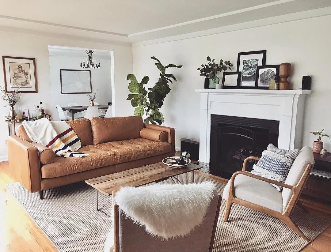 We Are So Obsessed With With Our New Article Sven Sofa On Top Of Being Beautiful It S Als Leather Couches Living Room Couches Living Room Brown Living Room