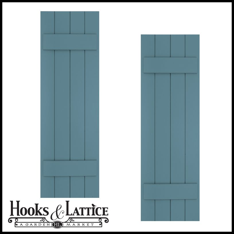 Board and Batten Shutters, Exterior Shutter Panels | Hooks and ...