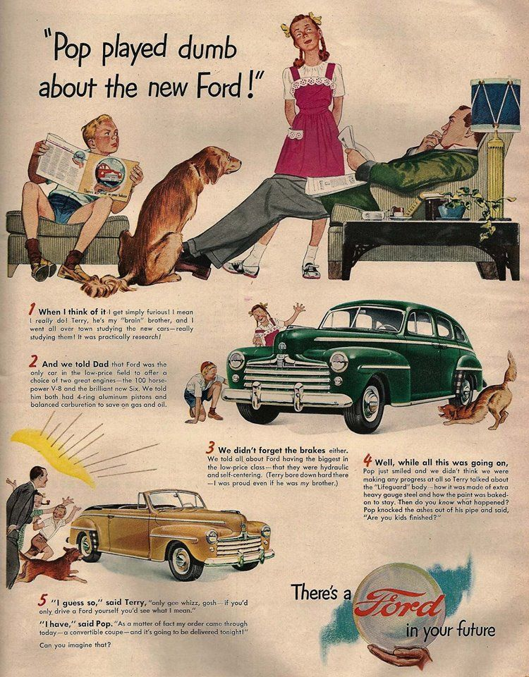 Late 1940 S To 1950 Ford Print Adv Classic Cars American