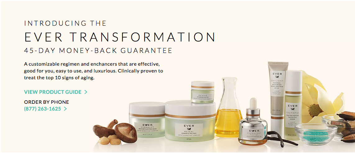 Ever Transformation 45 Day Money Back Guarantee Skin Care System Aging Signs Stella And Dot