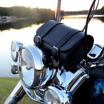 Harley Motorcycle Leather Handlebar Bag