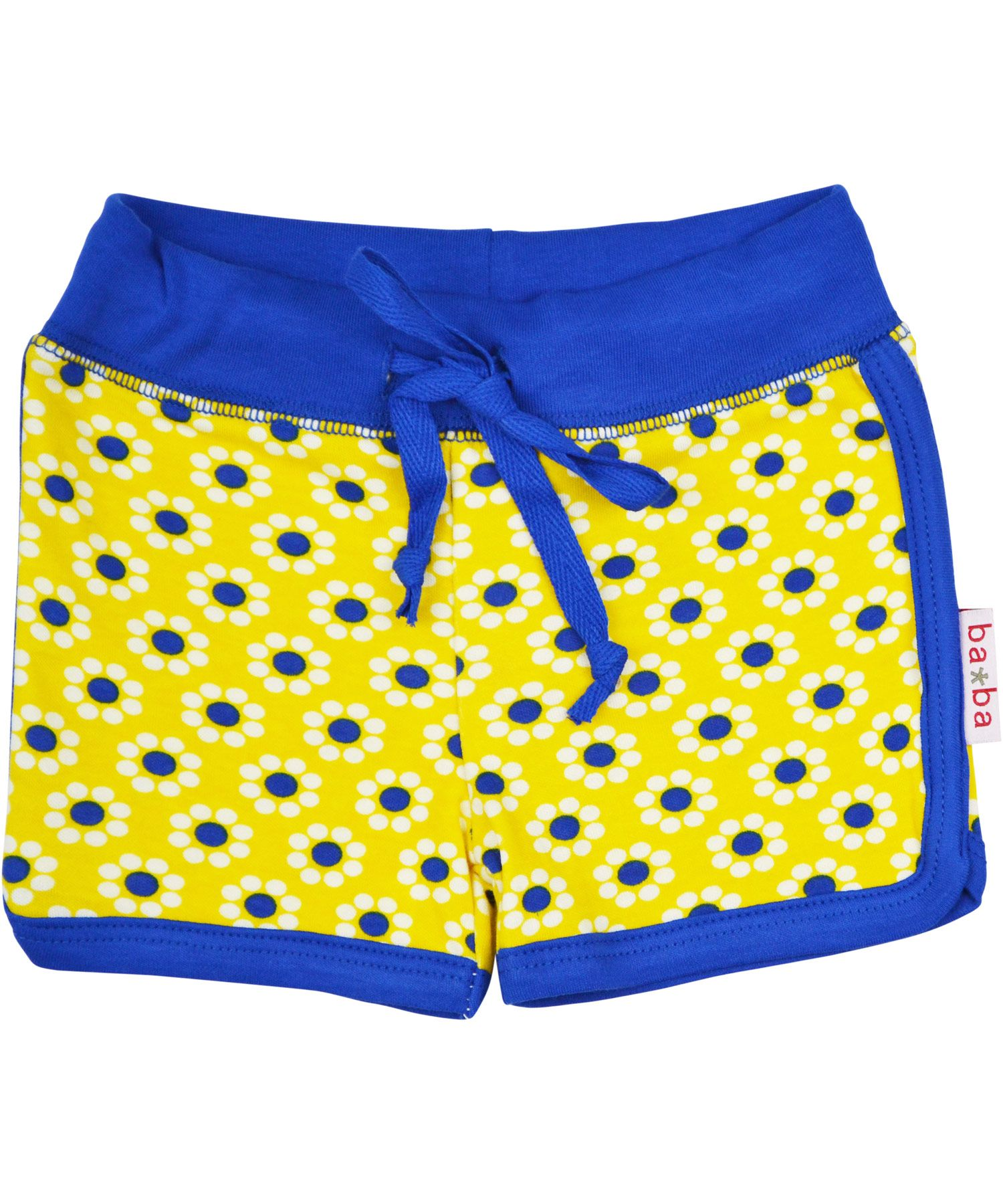 Baba Babywear yellow flower printed short shorts. baba-babywear.en.emilea.be