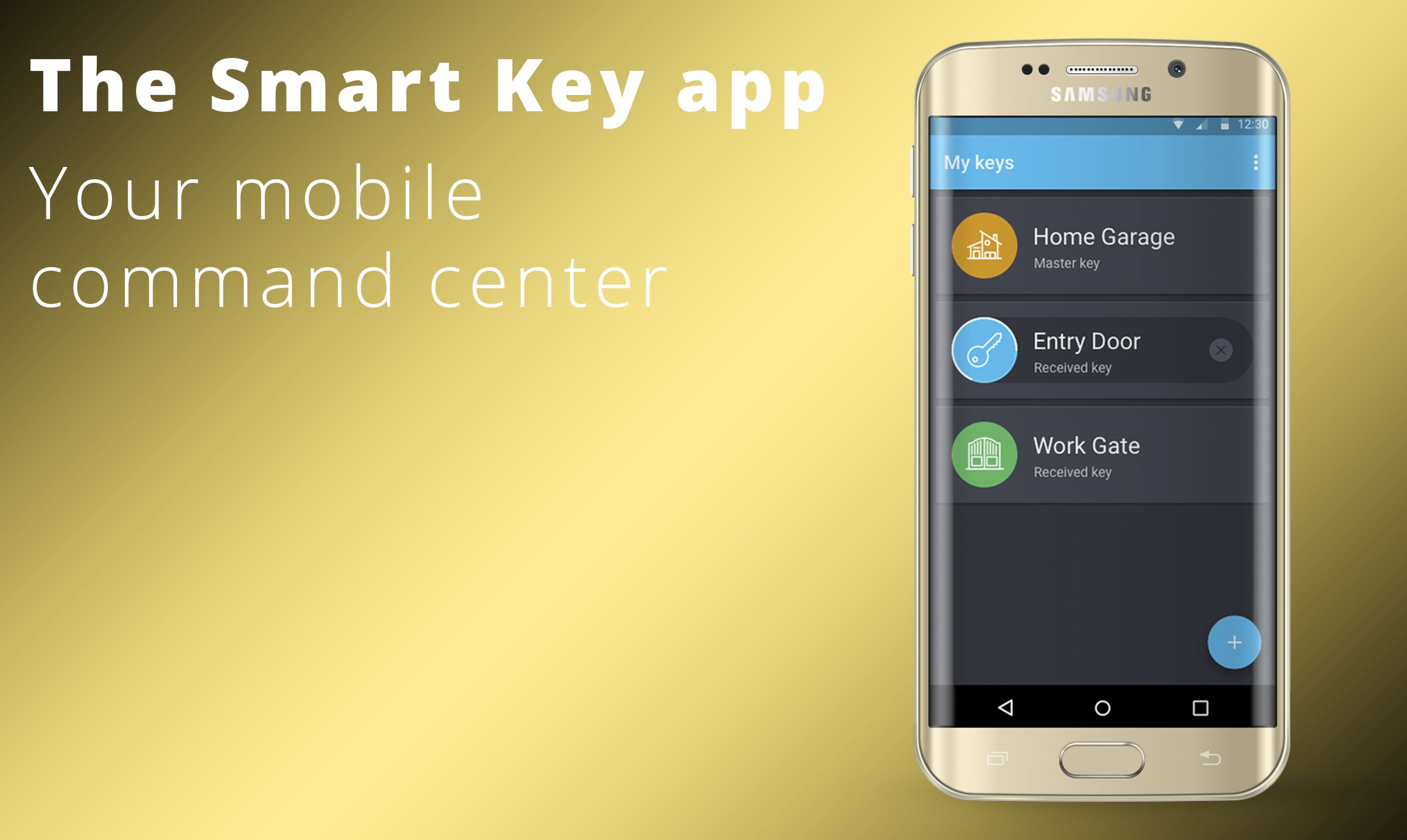 The Smart Key app  Your mobile command center  iBlue Smart