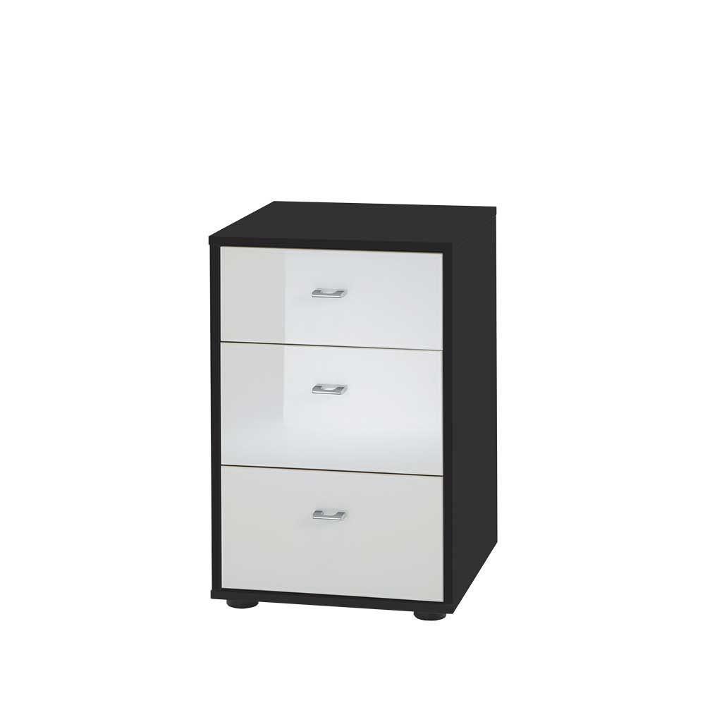kleine kommode in schwarz wei glas beschichtet 2er set jetzt bestellen unter https moebel. Black Bedroom Furniture Sets. Home Design Ideas