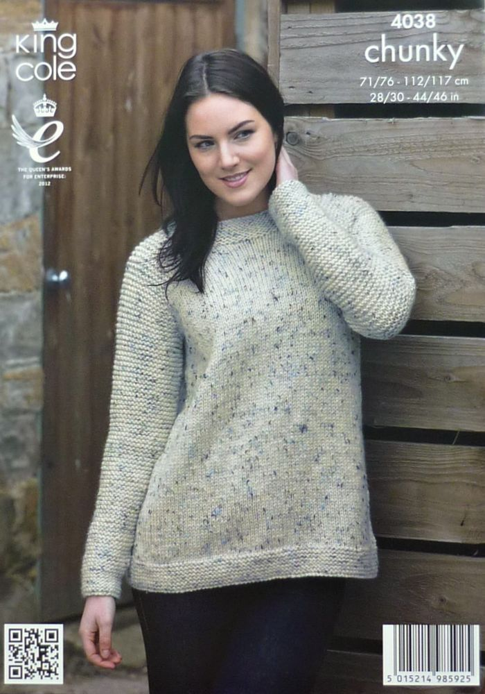 8212de0ccdeb58 Details about KNITTING PATTERN Ladies Long Sleeve EASY KNIT Jumper ...