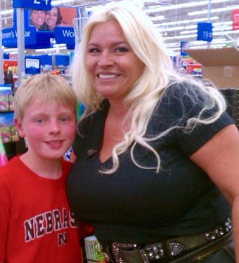 It's Mrs. Dog The Bounty Hunter! Think they have any bail jumpers in Wal Mart?