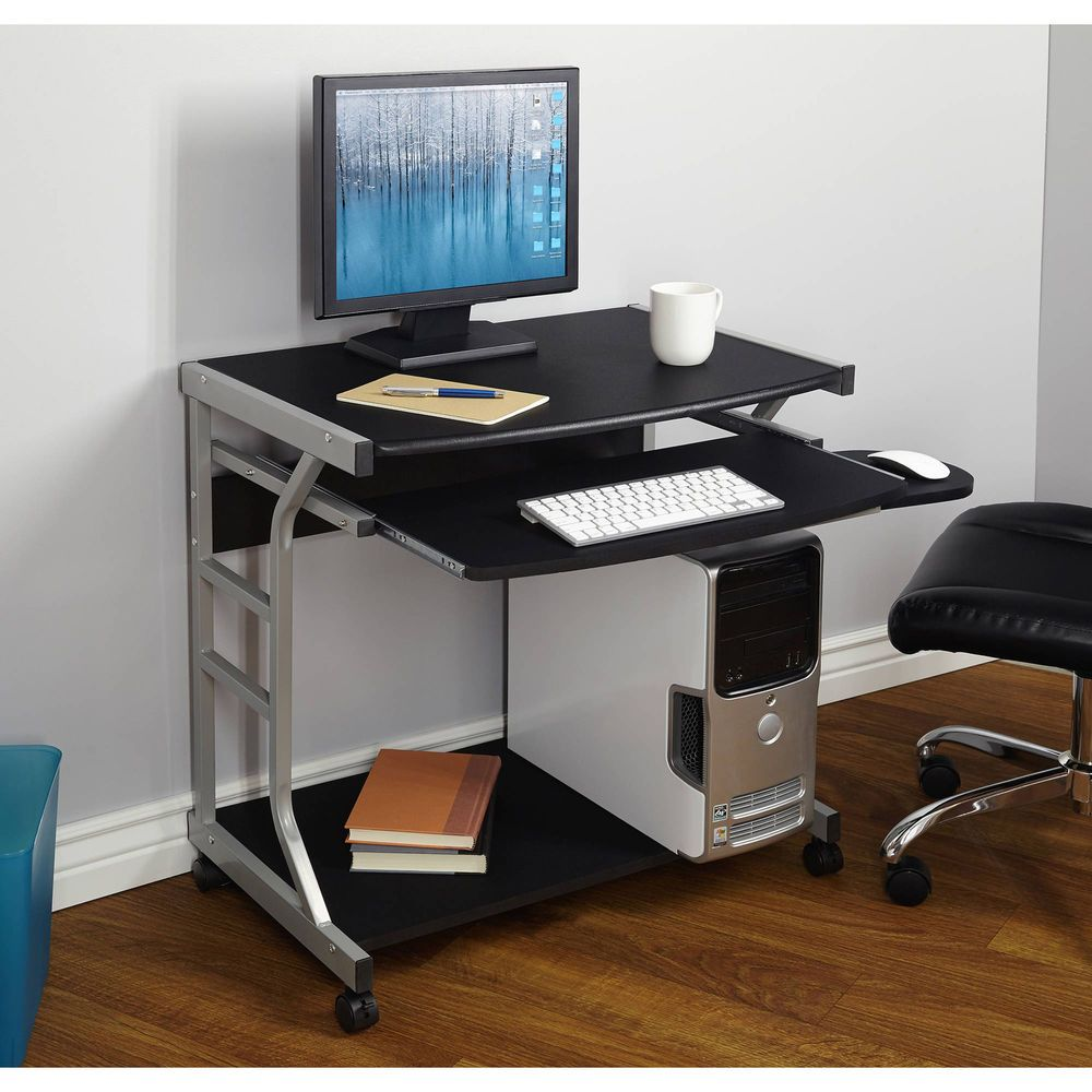 Simple Modern Office Desk Portable Computer Desk Home: Mobile Computer Desk Portable Laptop Cart Office Student
