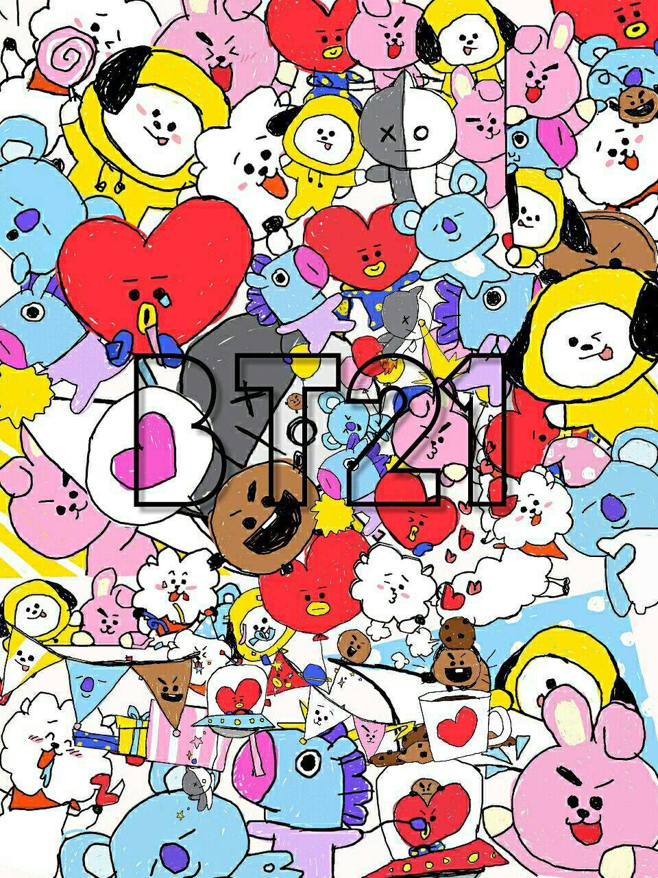 Bts, BT21, wallpapers, background. BTS Pinterest