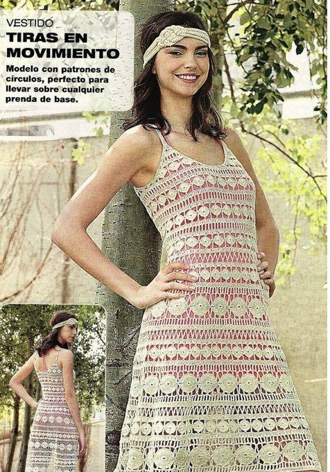 Vestido Tiras de Crochet Patron - Patrones Crochet | Projects to Try ...