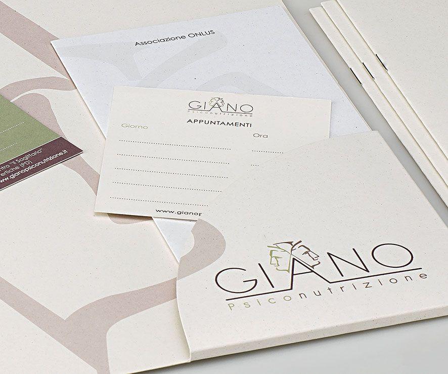 #Shiro #Favini - Corporate Image Giano Psiconutrizione #Shiro #AlgaCarta - folding on #Crush / Photo: @glaucoartist / Design: @quintessenzacom http://quintessenzacomunicazione.it/