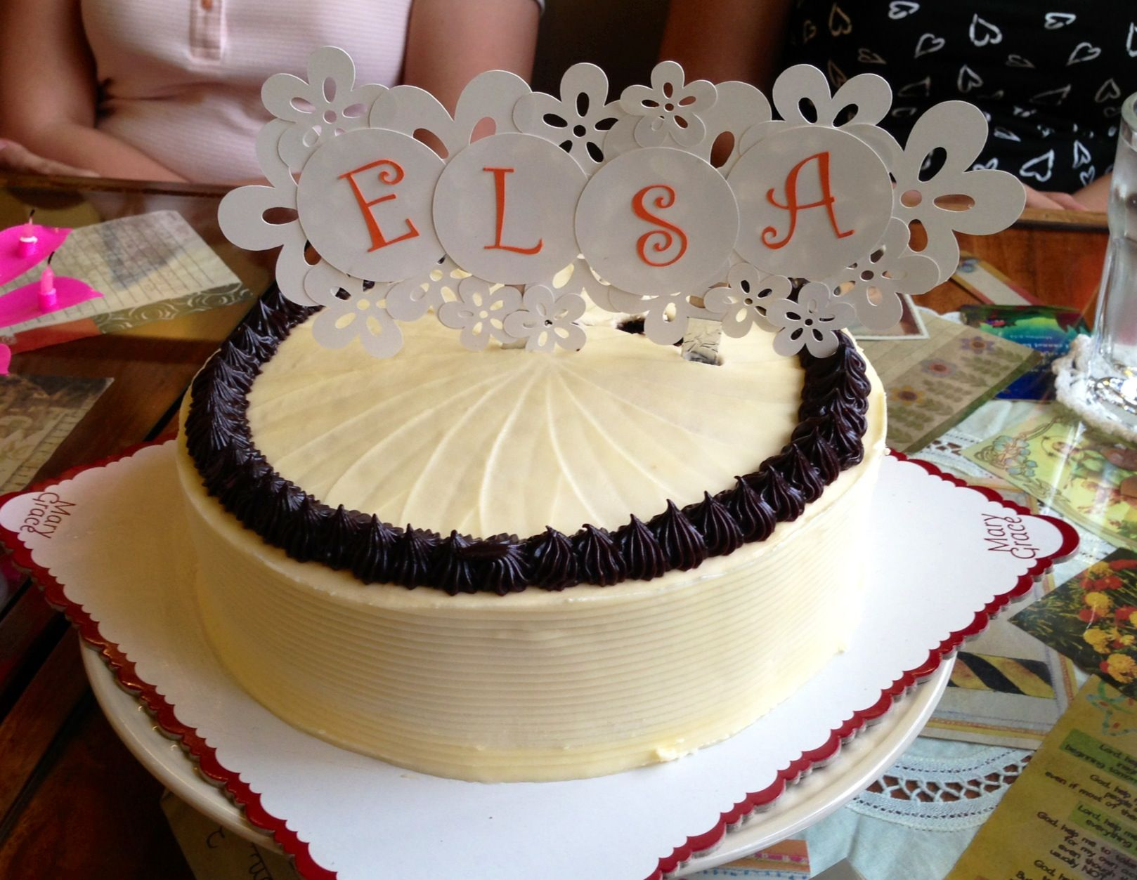 Cake-topper for my friend's surprise birthday breakfast :)