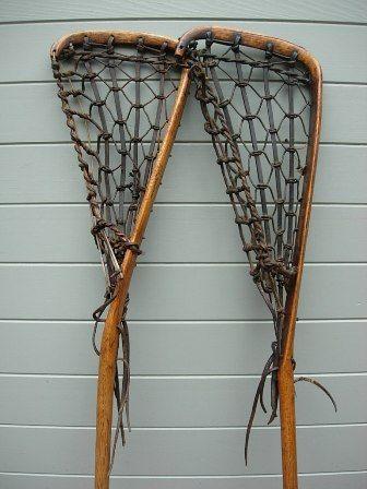 Antique Lacrosse Sticks Handmade Of